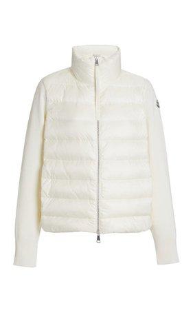 Wool-Trimmed Down Puffer Jacket By Moncler   Moda Operandi