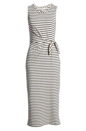 vineyard vines Metallic Edge Stripe Tie Front Maxi Dress