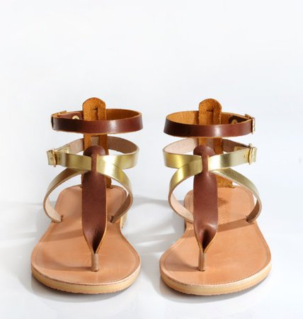 Greek leather sandals by Savopoulos on Etsy
