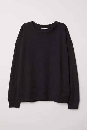 Lightweight Sweatshirt - Black