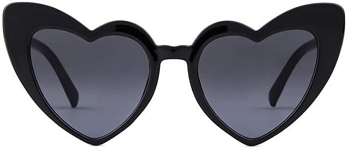 Amazon.com: Clout Goggle Heart Sunglasses Vintage Cat Eye Mod Style Retro Kurt Cobain Glasses (Red Frame Grey Lens): Clothing