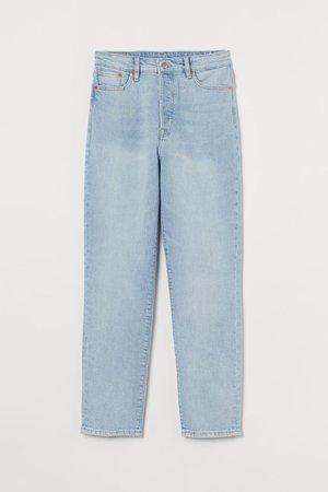 Mom High Jeans - Pale denim blue - h&m