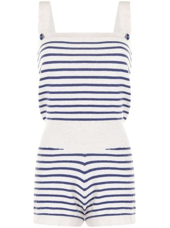 Chanel Pre-Owned Striped Knitted Playsuit - Farfetch