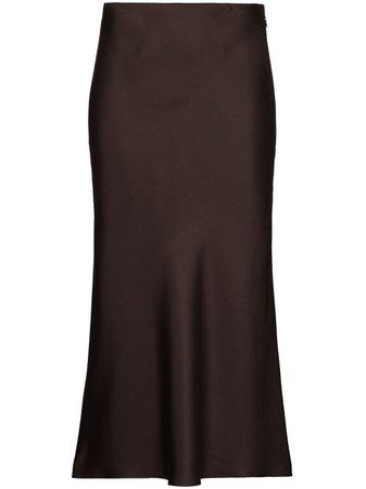 Totême, high-waist Silk Midi Skirt