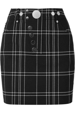 Alexander Wang | Checked woven mini skirt | NET-A-PORTER.COM
