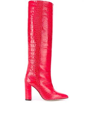 Paris Texas Crocodile Embossed Boots Ss20   Farfetch.com