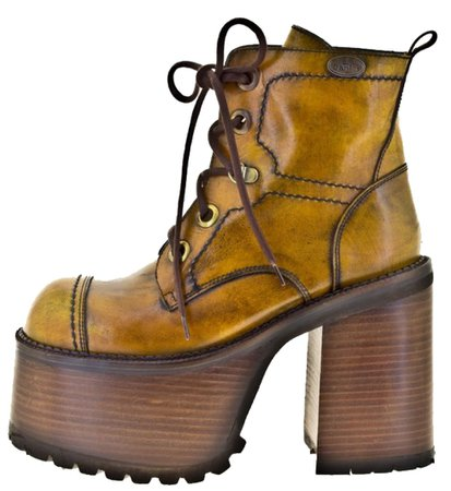 mustard yellow platform ankle boots