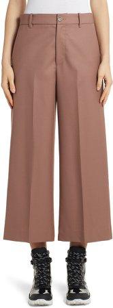 Wide Leg Wool Crop Pants