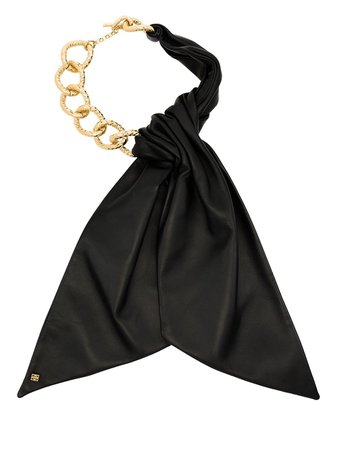 Givenchy leather-bow Chain Necklace - Farfetch