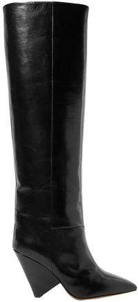 Lokyo Glossed-leather Knee Boots