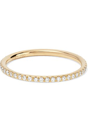 Ileana Makri | Thread Memoire-Ring aus 18 Karat Gold mit Diamanten | NET-A-PORTER.COM