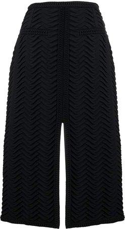 front-slit midi skirt
