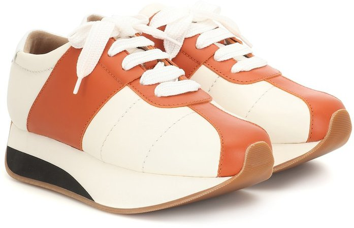 Big Foot leather sneakers