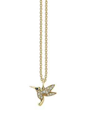 Sydney Evan Hummingbird Charm Necklace