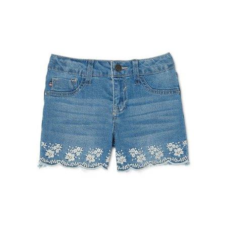 Vigoss - Vigoss Girls Scallop Frayed Hem Denim Jean Shorts, Sizes 4-14 - Walmart.com - Walmart.com