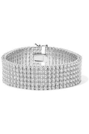 Kenneth Jay Lane | Silver-tone crystal bracelet | NET-A-PORTER.COM