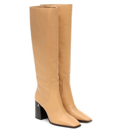 Brionne 85 Leather Boots - Jimmy Choo | Mytheresa
