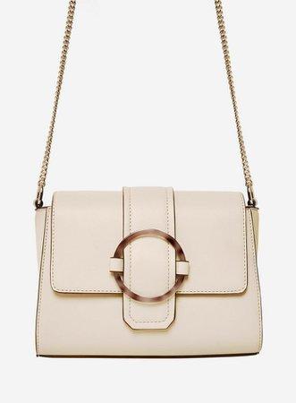 White Tort Ring Cross Body Bag | Dorothy Perkins
