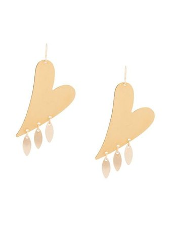 Gold Petite Grand Joi Heart Earrings J57G - Farfetch