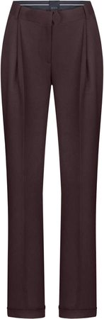 BEVZA Wool Straight-Leg Pants