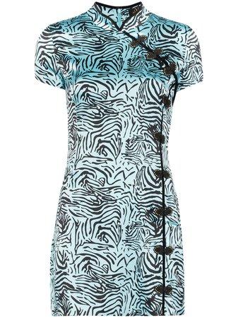 De La Vali Suki Tiger Print Mini Dress - Farfetch
