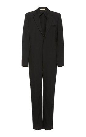 Tailored V-Neck Wool Jumpsuit By Bottega Veneta   Moda Operandi