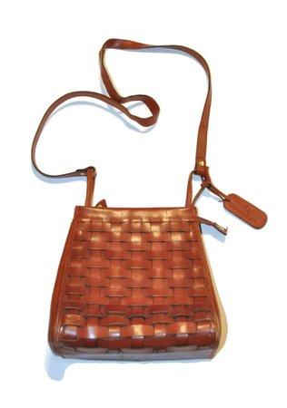 Vintage 1970's Etienne Aigner Brown Leather Crossbody Bag