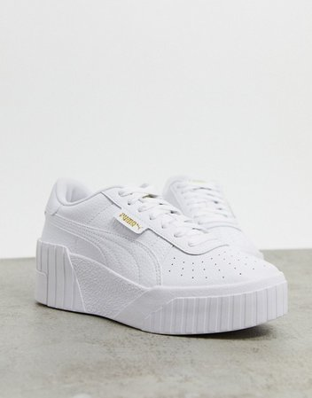 Puma Cali Wedge sneakers in white | ASOS