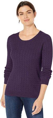 Lightweight Cable Crewneck Sweater