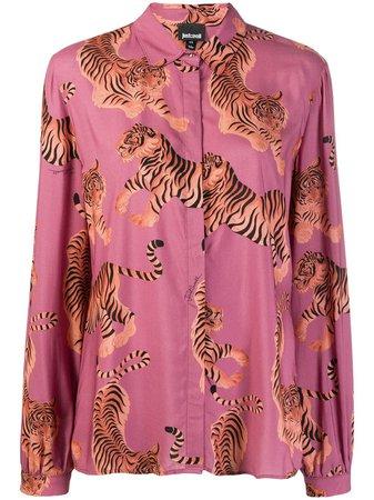 Just Cavalli Tiger Print Shirt - Farfetch