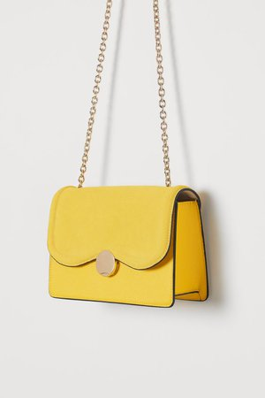 Suede-detail Shoulder Bag - Yellow - Ladies | H&M US