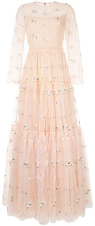 Huishan Zhang embellished tulle gown