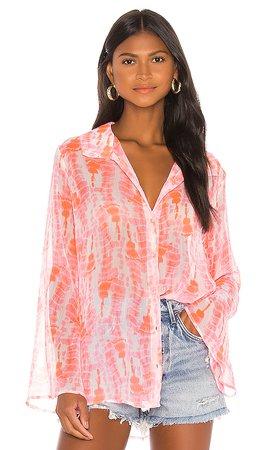 Lovers + Friends Sinthia Shirt in Sunbeam Dye | REVOLVE