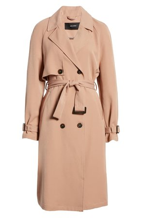 VERO MODA Donna Long Trench Coat | Nordstrom