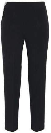 Embellished Cady Slim-leg Pants