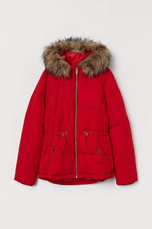 Padded Hooded Jacket - Red