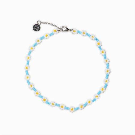 Daisy Seed Bead Anklet | Pura Vida Bracelets