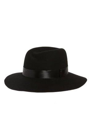Nordstrom Satin Trim Wool Felt Tulip Crown Hat | Nordstrom