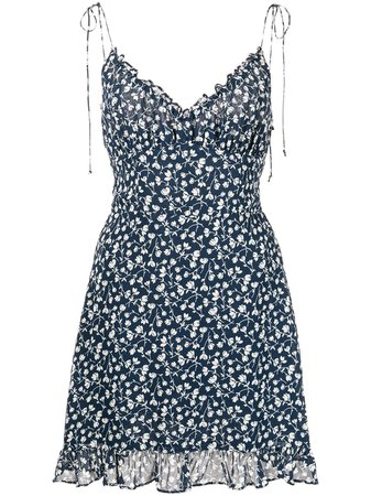 Reformation Esther floral-print mini dress