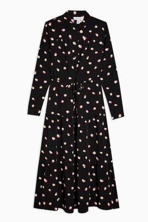 Spot Tiered Midi Shirt Dress | Topshop
