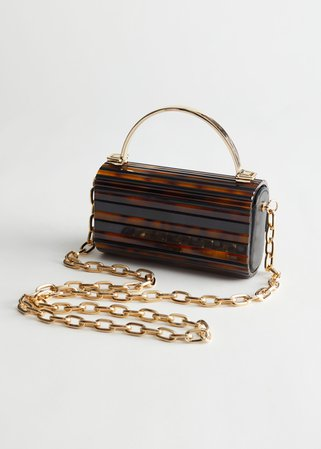 Tortoise Gold Chain Bag - Tortoise - Shoulderbags - & Other Stories