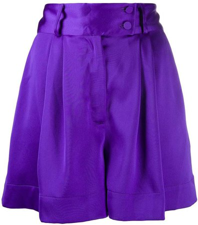 Styland pleated wide-leg shorts