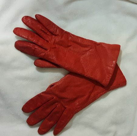 Van Raalt Accessories | Vintage Red Leather Gloves | Poshmark