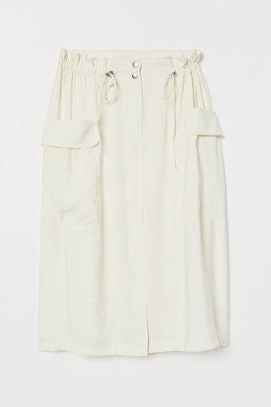 Modal-blend Skirt - White
