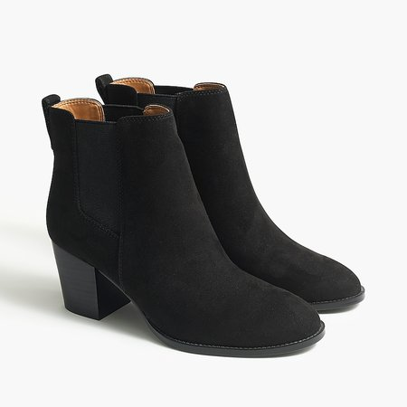 J.Crew Factory: Rory Microsuede Heeled Boots For Women