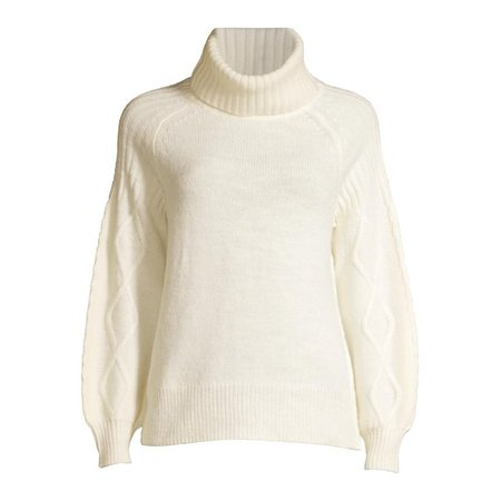 Heart N Crush - Heart N Crush Women's Cable Sleeve Raglan Turtleneck Sweater - Walmart.com - Walmart.com