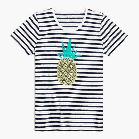 Sequin pineapple T-shirt