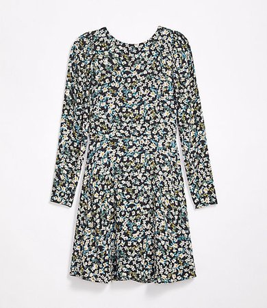 Tall Floral Puff Sleeve Flare Dress