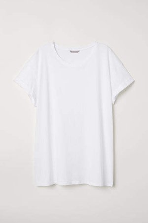 H&M+ Jersey Top - White