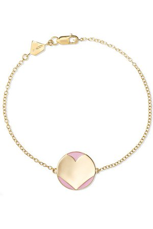 Alison Lou   Amour 14-karat gold and enamel bracelet   NET-A-PORTER.COM